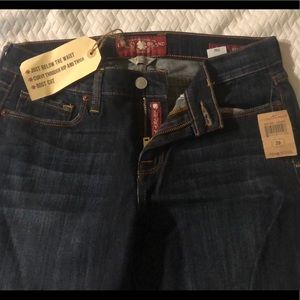 Lucky brand Sofia boot blue jeans
